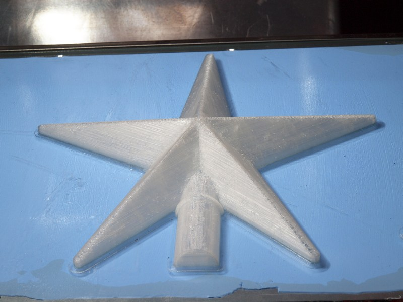 Звезда - отпечатана