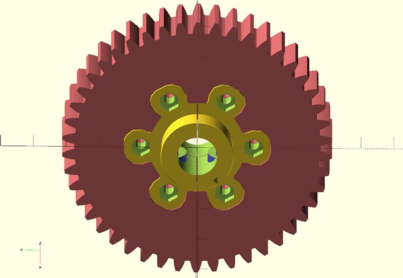 Шестерня - модель